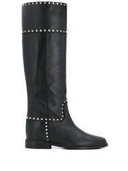 Via Roma 15 Stud Embellished Knee High Boots 60