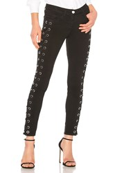 Versus By Versace Lace Up Jean Black
