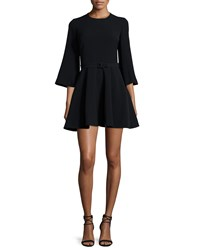 Elizabeth And James Elva 3 4 Sleeve Fit And Flare Dress Black Size X Small