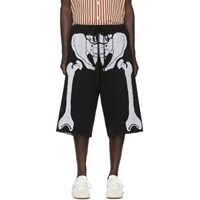 Loewe Black And White William De Morgan Skeleton Shorts