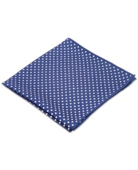 Ryan Seacrest Distinction Style Dot Pocket Square Navy And White