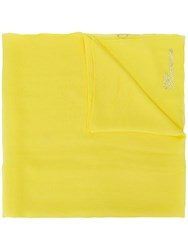 Blumarine Silk Sheer Scarf Yellow