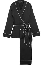 Equipment Odette Washed Silk Pajama Set Black