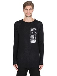 11 By Boris Bidjan Saberi Intarsia Wool Knit Sweater