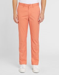 Lacoste Orange Logo Pr Chinos