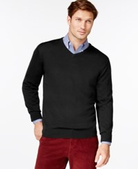 Cutter And Buck Douglas V Neck Sweater Black