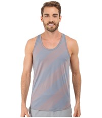 2Xist Trainer Tech Dot Print Racerback Tank Top Earl Grey Combo Men's Sleeveless