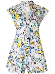 Chanel Pre Owned 3 Piece Airplane Print Suit 60