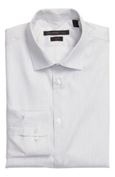 John Varvatos Men's Star Usa Slim Fit Stripe Stretch Dress Shirt Smoke
