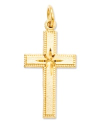 Macy's 14K Gold Charm Cross Charm