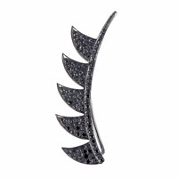 Meghna Jewels Claw Ear Climber Black Diamonds