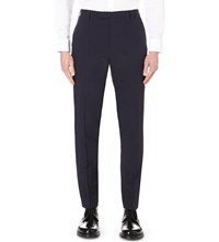 Reiss Attila Slim Fit Wool And Mohair Blend Trousers Navy