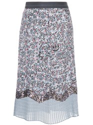 Coach X Keith Haring Patchwork Skirt White