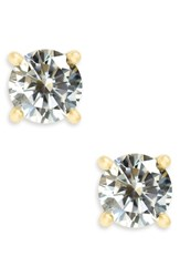Nordstrom Cubic Zirconia Stud Earrings Clear Gold