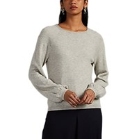 Co Cashmere Peasant Sleeve Sweater Light Gray