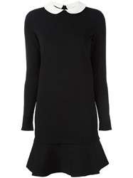 Valentino Peter Pan Collar Dress Black