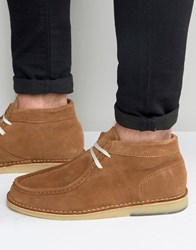 Selected Homme Ronni Suede Boots Tan