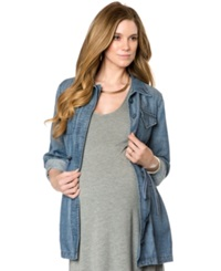 A Pea In The Pod Maternity Chambray Drawstring Jacket