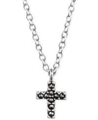 Judith Jack Sterling Silver Crystal Marcasite Cross Pendant Necklace 1 10 Ct. T.W.