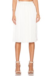 Needle And Thread Pandora Midi Skirt Cream