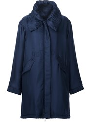 Adam By Adam Lippes Hooded Parka Blue