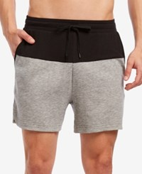 2Xist 2 X Ist Men's Colorblocked Terry Shorts Black Heather