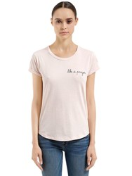 Maison Labiche Like A Prayer Cotton Jersey T Shirt Pink