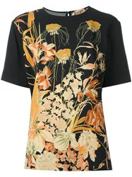 N 21 No21 Floral Print T Shirt Black