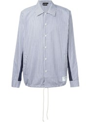 Ejxiii Striped Shirt Blue