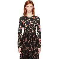 Isabel Marant Black And Red Floral Domino T Shirt