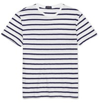 Polo Ralph Lauren Striped Slub Cotton Jersey T Shirt White