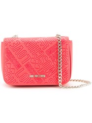 Love Moschino Logo Embossed Crossbody Bag Women Polyurethane One Size Red