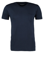 Knowledge Cotton Apparel Basic Tshirt Dark Blue