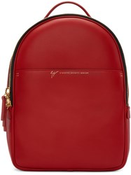 Giuseppe Zanotti Red Leather Backpack