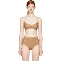 Land Of Women Tan Mesh Classic Bra