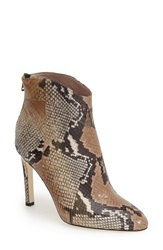 Sarah Jessica Parker Sjp 'Quina' Ankle Bootie Women Thule Beige Printed Snakeskin