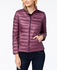 32 Degrees Packable Down Puffer Coat Tangled Plum