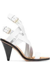 Iro Woman Riara Buckled Leather Sandals White