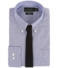 Lauren Ralph Lauren Hairline Stripe Classic Button Down Shirt Blue White Men's Long Sleeve Button Up
