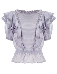 Etoile Isabel Marant Lilac Cotton Nathan Frill Blouse Purple