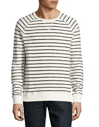 Strellson Mad Striped Cotton Sweater Grey