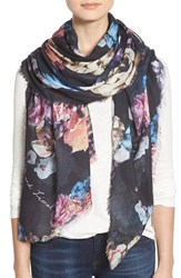 Lily And Lionel Women's Lily And Lionel 'Flores' Print Modal And Silk Scarf