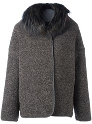 Fabiana Filippi Collar Zip Up Jacket Grey
