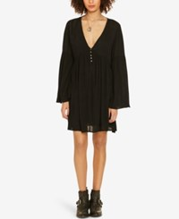 Denim And Supply Ralph Lauren Empire Waist Bell Sleeve Dress Polo Black