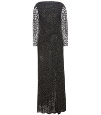 Edun Grammar Devore Velvet Dress Black
