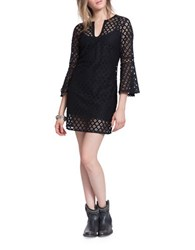 Plenty By Tracy Reese Bell Sleeve Lace Dress Black