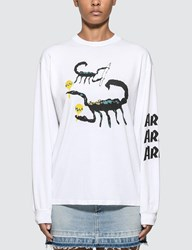 Aries Scorpion Long Sleeve T Shirt White