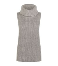 Michael Michael Kors Cowl Neck Wool Cashmere Sweater Female Light Grey