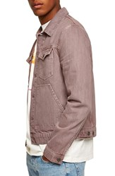 Topman Eamon Denim Jacket Pink