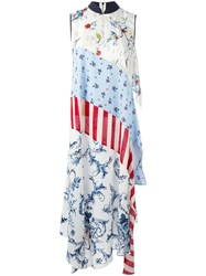 Antonio Marras Patchwork Maxi Dress Blue